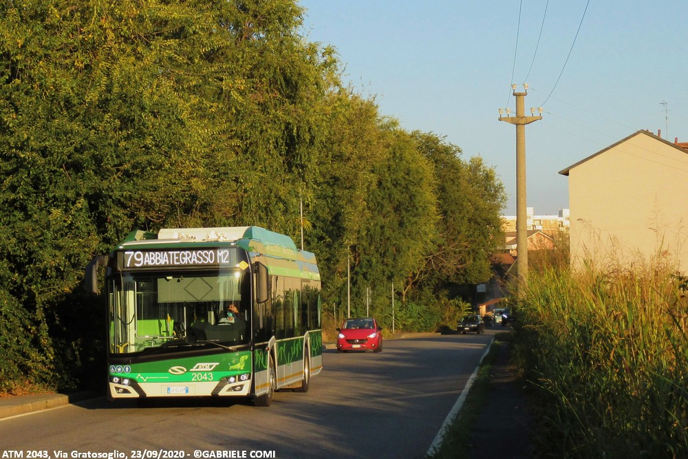 autobus solaris elettrico 2043 milano atm linea 79