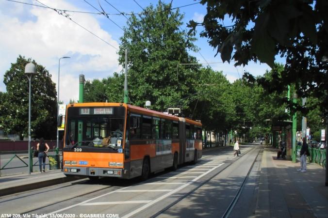 filobus bredabus atm milano 209 linea 90