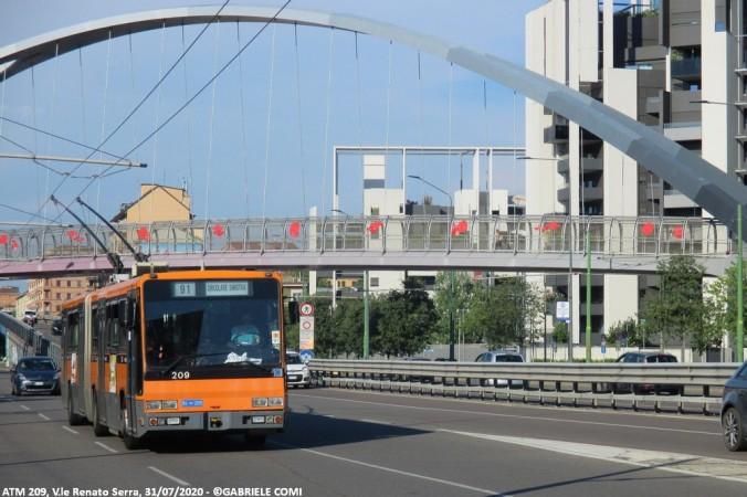 filobus bredabus atm milano 209 linea 91