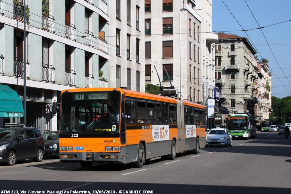 filobus bredabus atm milano 223 linea 91