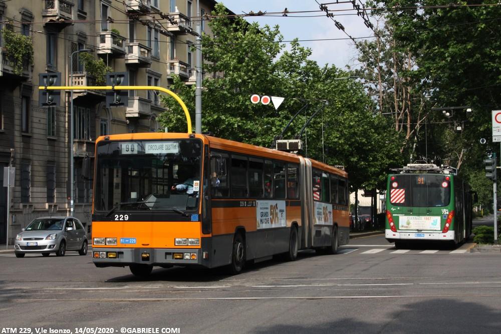 filobus bredabus atm milano 229 linea 90