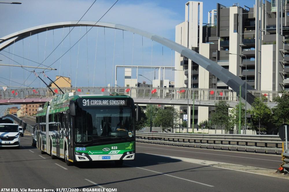 filobus solaris trollino atm milano 823 linea 91