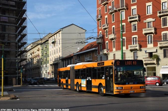 autobus cityclass atm 2831 milano linea 92