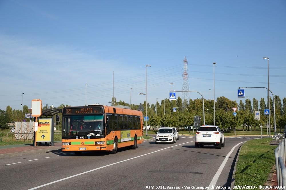 autobus cityclass atm 5731 milano linea 321