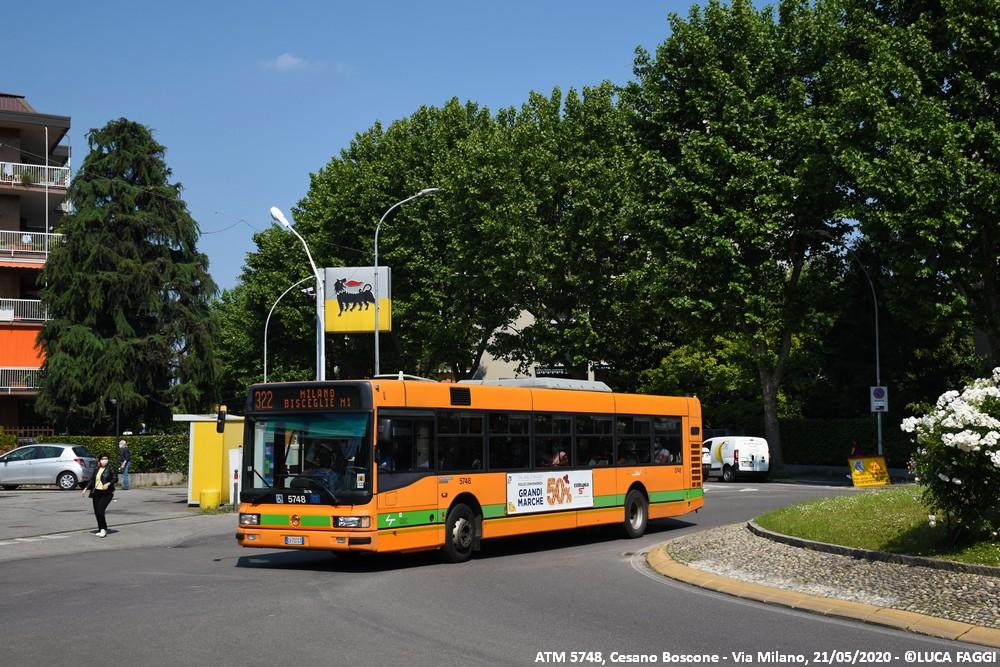 autobus cityclass atm 5748 milano linea 322