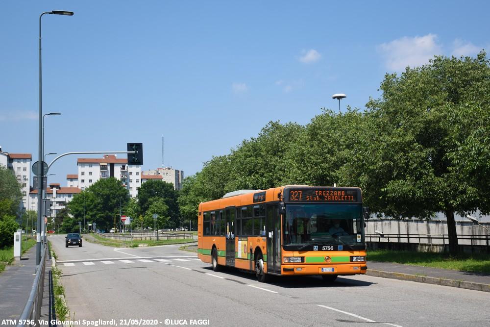 autobus cityclass atm 5756 milano linea 327