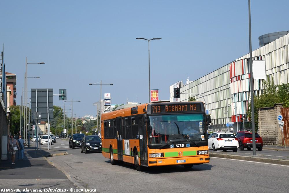 autobus cityclass atm 5786 milano linea 713