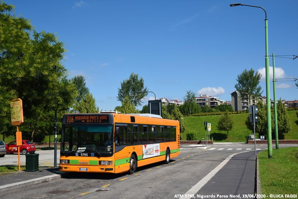 autobus cityclass atm 5795 milano linea 708