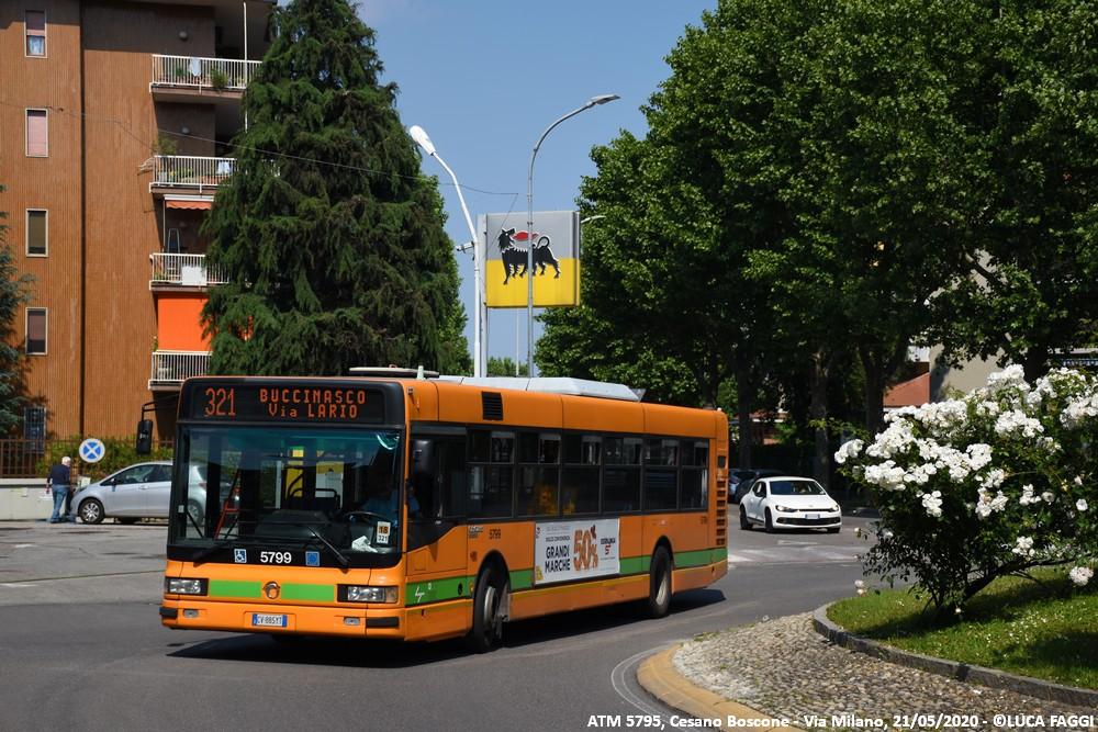 autobus cityclass atm 5799 milano linea 321