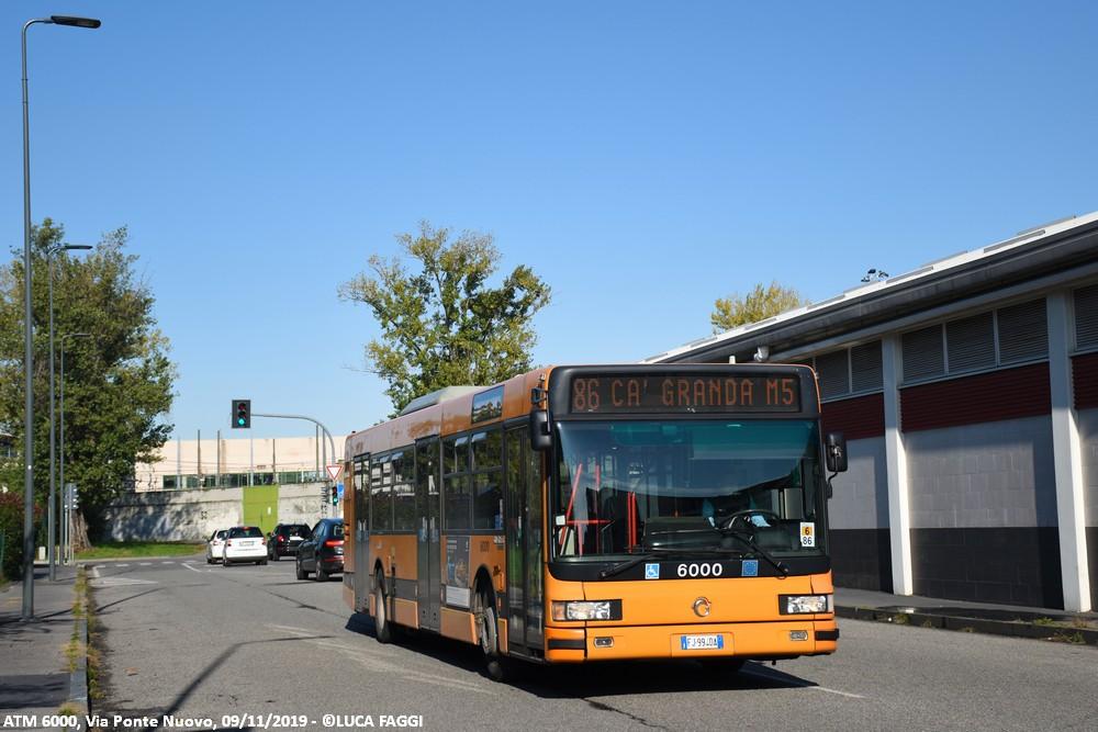 autobus cityclass atm 6000 milano linea 86