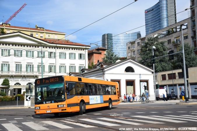 autobus cityclass atm 6037 milano linea 43