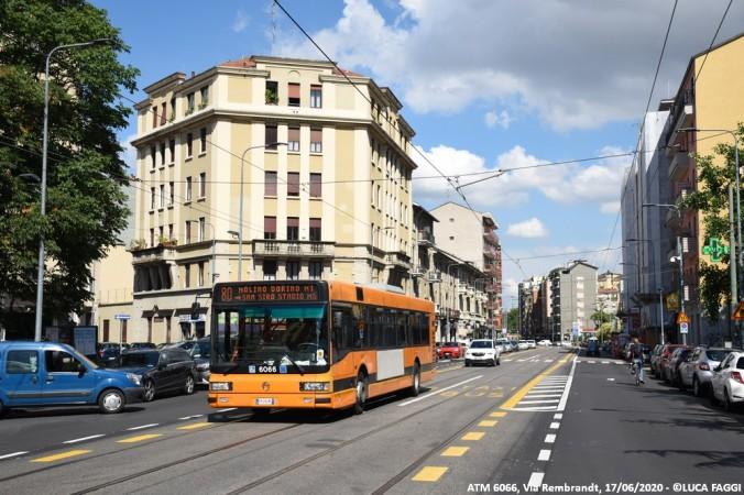autobus cityclass atm 6066 milano linea 80
