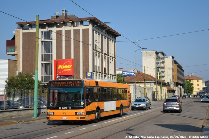 autobus cityclass atm 6067 milano linea 40