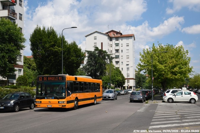 autobus cityclass atm 6063 milano linea 63