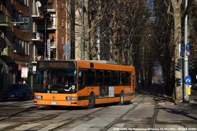 autobus cityclass atm 6094 milano linea 63