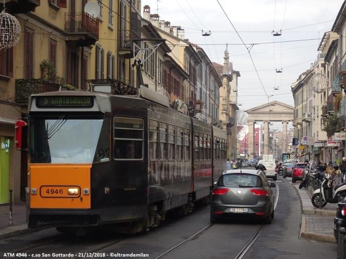 tram jumbotram atm milano 4946 linea 3