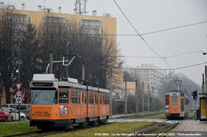 tram jumbotram atm milano 4961 linea 3