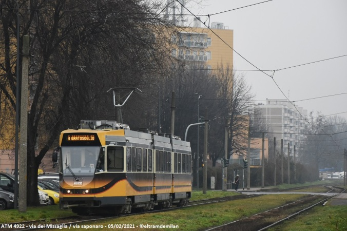 tram jumbotram atm milano revamping 4922 linea 3