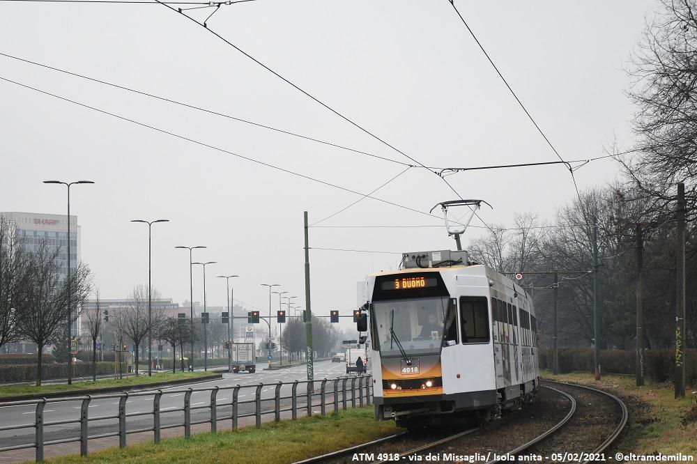 tram jumbotram atm milano revamping 4918 linea 3