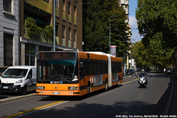 autobus cityclass atm 2821 milano linea 92