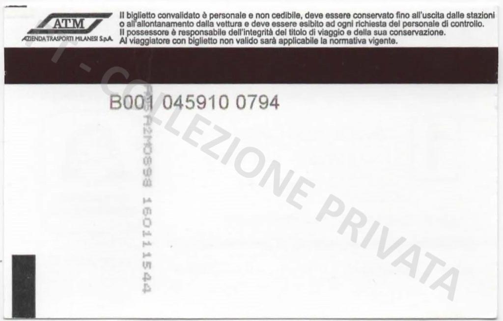 Biglietto ATM - Io viaggio responsabile 1 (retro)