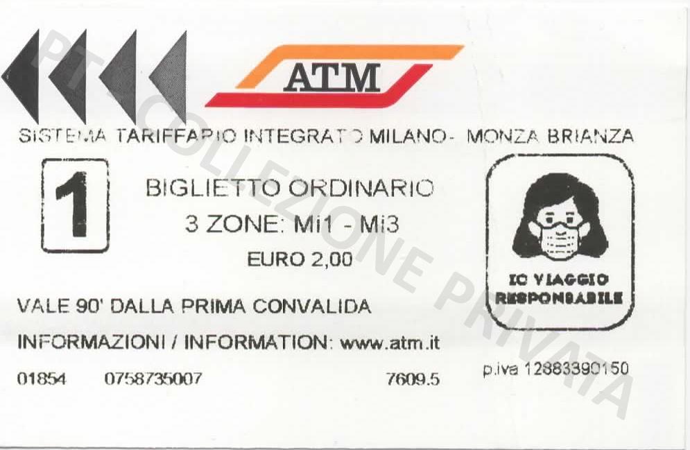 Biglietto ATM - Io viaggio responsabile 2