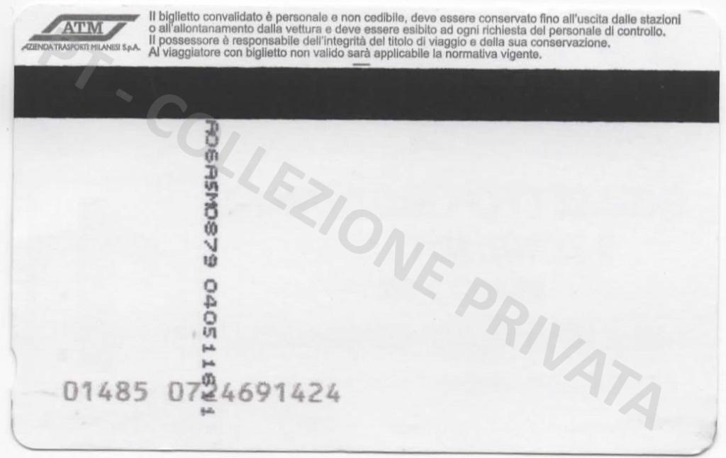 Biglietto ATM - Mi1 Mi3 stampa tipografica (retro)