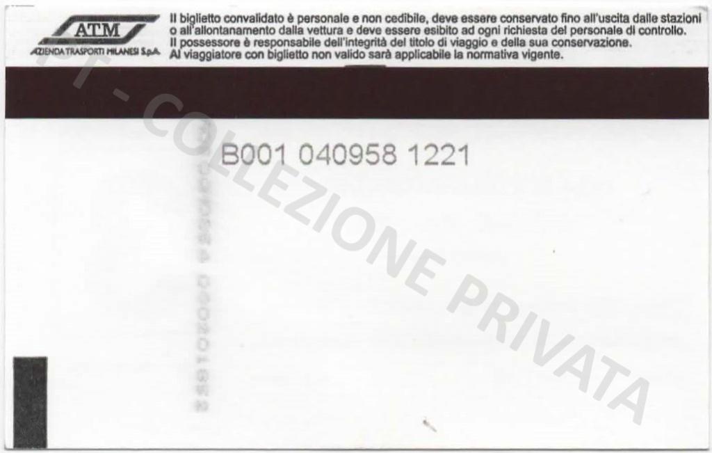 Biglietto ATM - Mi1 Mi5 (retro)