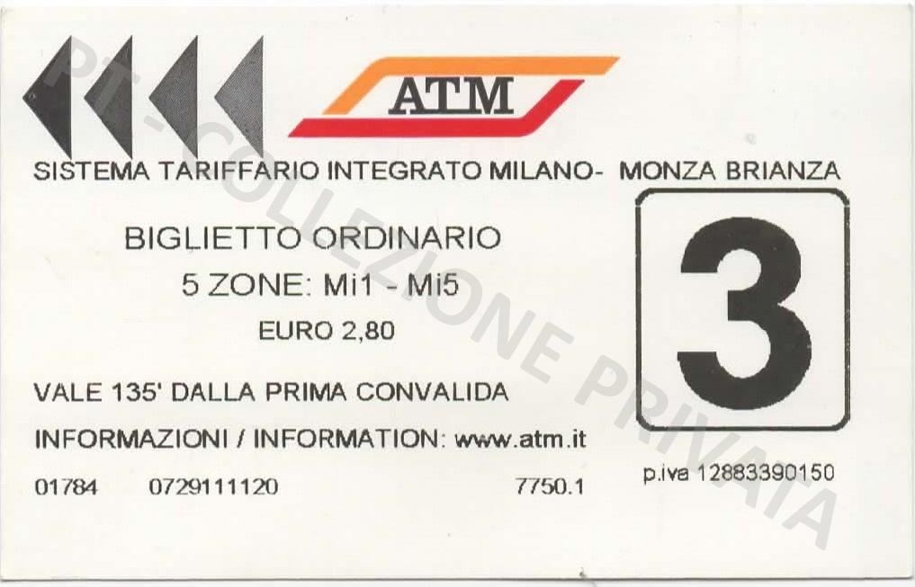 Biglietto ATM - Mi1 Mi5